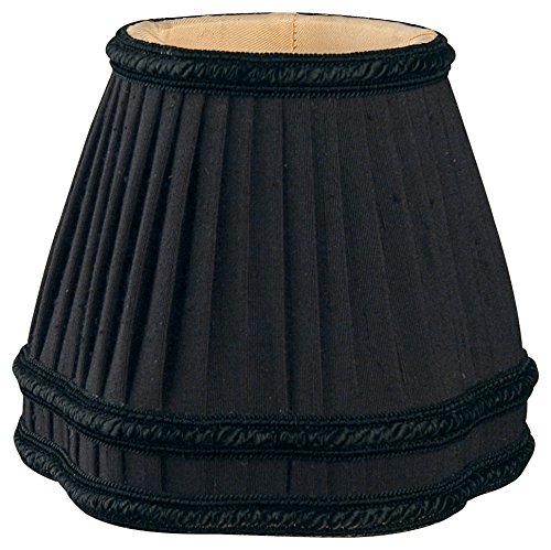 Royal Designs CS-405BLK Decorative Trim Bottom Gallery Empire Black/Gold Chandelier Lamp Shade, Black by Royal Designs, Inc