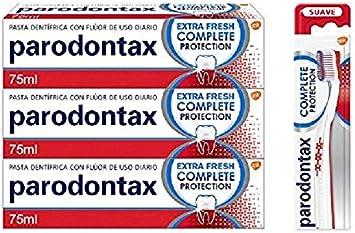 Parodontax Complete Protection Pack para el sangrado de Encías - x3 pastas de dientes + x1 cepillo: Amazon.es: Salud y cuidado personal