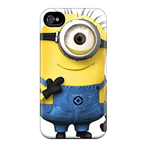 Iphone 4/4s UoC14205SRUC Custom Lifelike Despicable Minion Pictures Bumper Hard Cell-phone Cases -ErleneRobinson