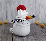 Rooster Knitted Toy Soft Bird Doll Stuffed Animal Ornament Plush Figurine Amigurumi Cook Gift Kitchen Decor Wool Yarn Art