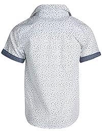 Ben Sherman - Conjunto de camiseta, camiseta y pantalón corto de sarga para niños y niños pequeños (3 piezas)