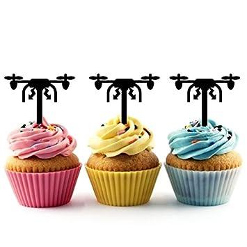 Drone Cupcake Cake Topper para tartas decoración para ...