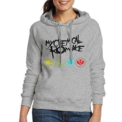 FUOCGH Women's Pullover My Chemical Romance Hoodie Sweatshirts Ash XL