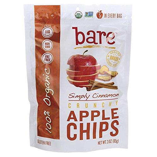 Bare Gluten Free Organic Apple Chips, Cinnamon, 3.3 Ounce (Simply Apple)