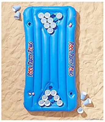 Party Pool Pong Beer Raft Inflatable Float ~ 5 x 3 Foot Long! + 1 Million Bill