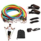 Cheap BMBZON Resistance Band Set 11 Pieces with Stackable Exercise Bands,Legs Ankle Straps,Door Anchor, Handles and Waterproof Carrying Bag ,Multifunction Fitness Equipment for Legs and Arms Home Workouts