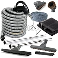 Central Vacuum Deluxe Hardwood, Bare floor and Carpet Kit with 30ft Hose and Accessories