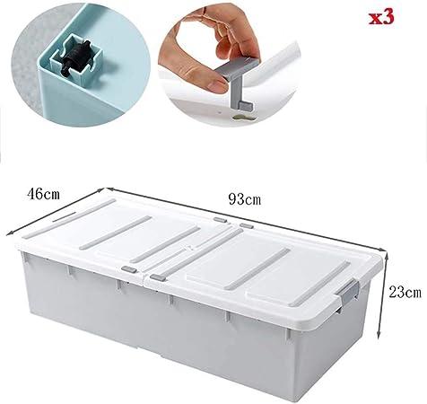 Caja de almacenamiento de cama KEKET1 Cajas de almacenamiento de tapa plegable con tapas Caja grande a prueba de humedad con mango Caja de juguete resistente y resistente for medicamentos alimenticios: Amazon.es: