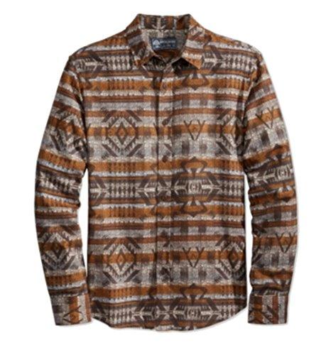 AMERICAN RAG CIE Mens Button Down Printed Shirt Brown XS from AMERICAN RAG CIE