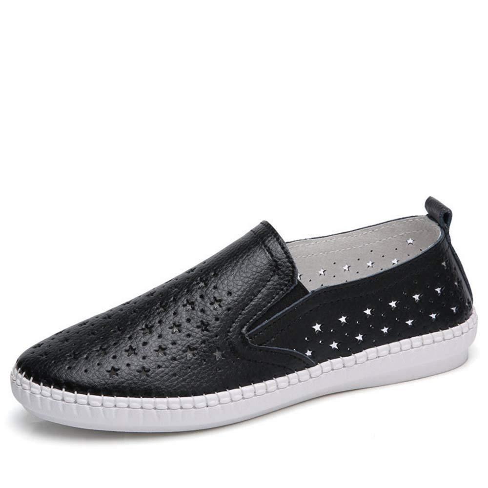 NAFTY Damenschuhe Stiefel Sommer Schuhe Frau Echte Echte Echte Kuh Leder Wohnungen Frauen Schuhe Slip On Frauen Müßiggänger Feste Ausschnitte Weiblichen Schuh 1a661e