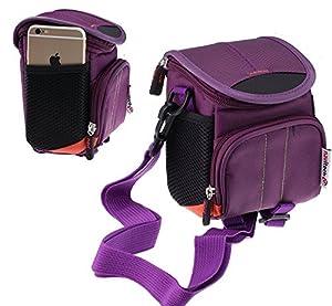 Navitech Purple Digital Camera Case Bag