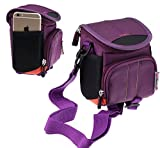 Navitech Purple Digital Camera Case Bag Cover For The Fitiger Digital Camera 2.7 inch +1.8 inch Screens HD 1080P CMOS 16x Zoom Camcorder Mini Camera