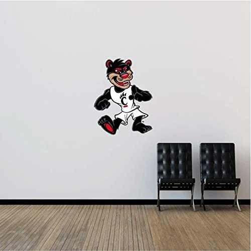 Cincinnati Bearcats NCAA USA Cat Logo College Sport Art Wall Decor Sticker 25'' x 19'' by postteam