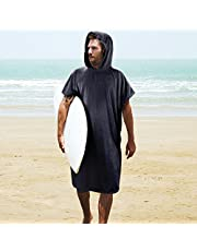 Tirrinia Surf Beach Wetsuit Changing Towel with Hood, Super Absorbent Microfiber Bath Robe Poncho for Men Women Bath/Shower/Pool/Swim