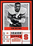 Football NFL 2017 Panini Contenders Draft Picks Season Ticket #50 Jim Brown