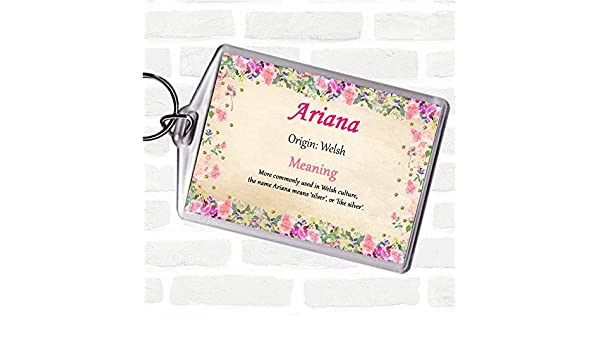 Ariana - Llavero con etiqueta con el nombre de la bolsa ...