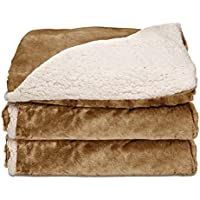 Sunbeam Heated Throw Blanket | Reversible Sherpa/Royal...
