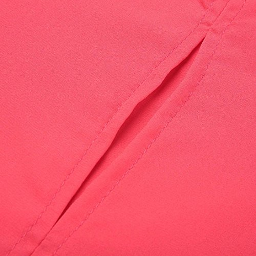T Cou O Personnalité Chemisier Décontractée Manches Femmes Mousseline URSING Bandage Shirts Chemise Rouge 2 Soie de Tops Blouse Haut Chic Solide Top 1 Shirt RPtwvTwx