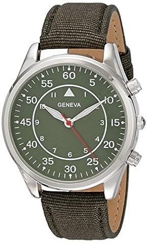 Geneva Men's 2442B-GEN Analog Display Analog Quartz Green Watch (Geneva Watches Men Gold)