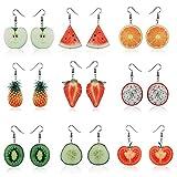 Women's Earrings, 1Pair Women Large Fruit Dangle Earring Strawberry Pineapple Long Drop Jewelry Fish Hook