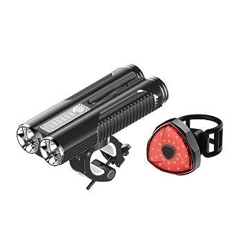 Kaxima Luces Bicicleta USB Cargador Linterna Carretera ...