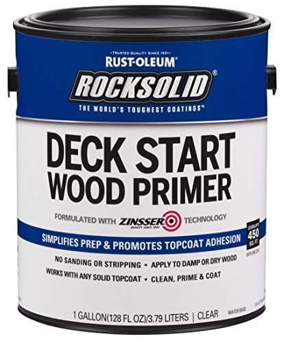 Wood Primer - Rust-Oleum 312283 RockSolid Deck Start Wood Primer, 1 Gallon, Clear