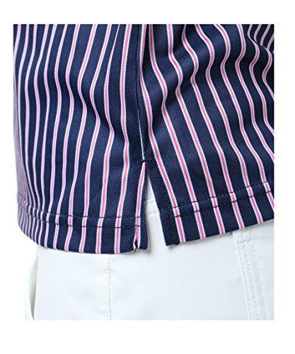 オプスト レディース ゴルフウェア ポロシャツ 半袖 マルチカラ―ストライプ半袖シャツ OP220301H06 WH M