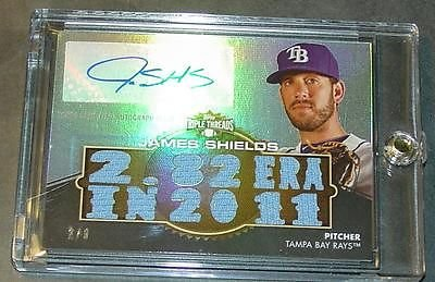 2012 Triple Threads James Shields Auto Jersey #3/9 Sharp ()