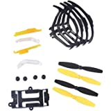 YouCute Spare Part Kit for Udi U27 Rc Quadcopter Drone blade protecting frame lampshade pads battery frame