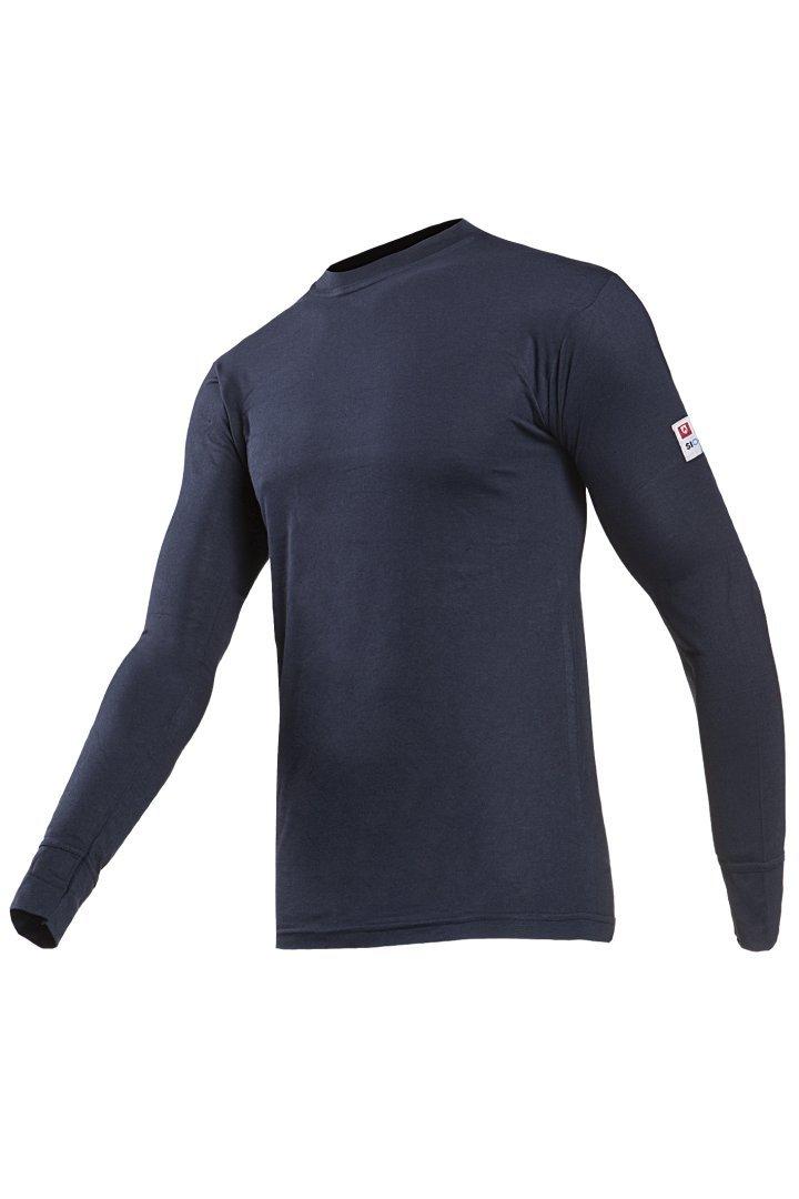 Medium Navy Blue SIOEN 2690A2MPBB90M Teramo Flame Retardant T-Shirt with Long Sleeves