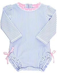 c488c5300720 Baby/Toddler Girls Long Sleeve One Piece Swimsuit with UPF 50+ Sun  Protection