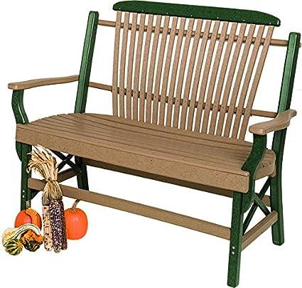 Astounding Amazon Com Poly Lumber Bentwood Style Garden Bench In Short Links Chair Design For Home Short Linksinfo