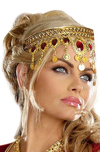 Renaissance Goddess Adult Size Costumes (Queen Goddess Renaissance Dripping Rubies Headpiece Costume Accessory)