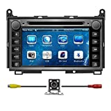 7 Inch Touchscreen Monitor Car GPS Navigation System for TOYOTA Venza 2008-2015 Car Stereo DVD Player+Bluetooth+Radio +Steering Wheel Control+RDS+Sd/usb+AUX IN+Free Backup Camera+Free US Map by Indiny