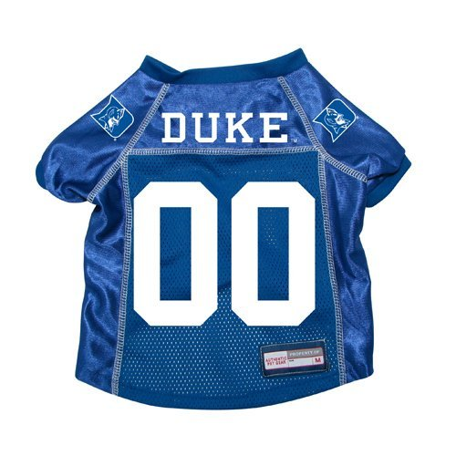 (Duke Blue Devils Premium NCAA Pet Dog Jersey w/ Name Tag XS)