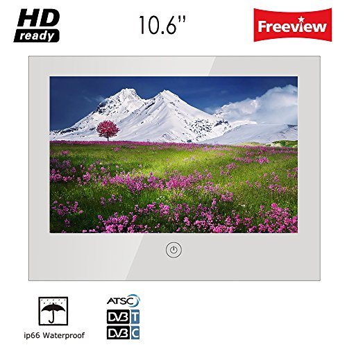 Soulaca 10.6 inches Bathroom Mirror Led Hotel TV Waterproof TV -