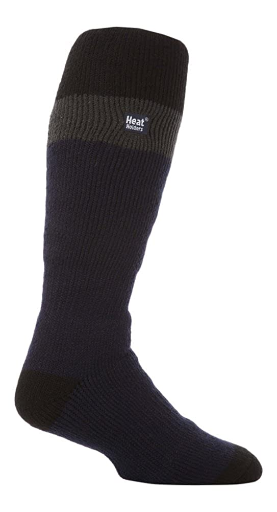 LONG SKI Heat Holders Thermal Socks Mens Navy//Grey 6-11 uk 39-45 eur