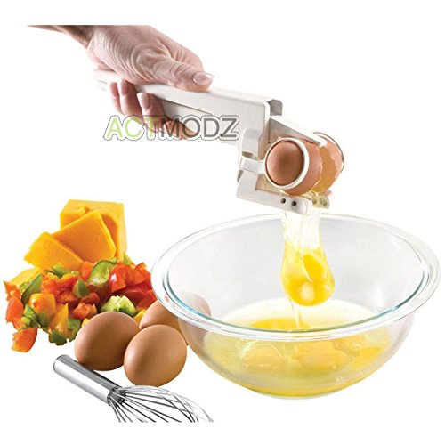 Easy Egg Cracker Egg Separator (White) - 8