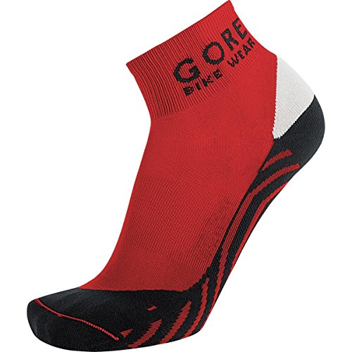 GORE BIKE WEAR Contest Socks,Size 10.5-12,Red/Black ()