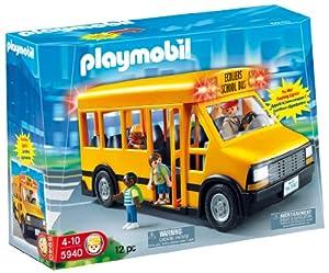 Amazon.com: PLAYMOBIL School Bus: Toys & Games