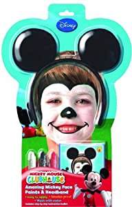 Rubies 5315 - Set de maquillaje de Mickey Mouse con diadema con orejas