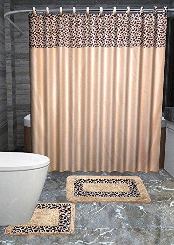 animal print shower curtain set - 4