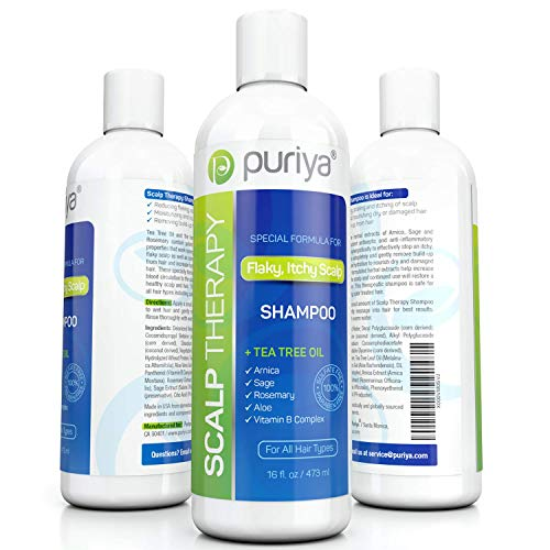 Puriya Sulfate Free Anti Dandruff Shampoo with Tea Tree Oil. 16 oz....