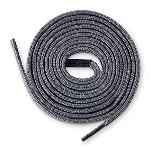 Lace Kings Flat Shoelaces (Dark Grey - 36in) (Jordan Retro 12 Shoe Laces)
