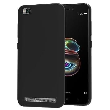 iVoler Funda Carcasa Gel Negro para Xiaomi Redmi 5A, Ultra Fina 0,33mm, Silicona TPU de Alta Resistencia y Flexibilidad
