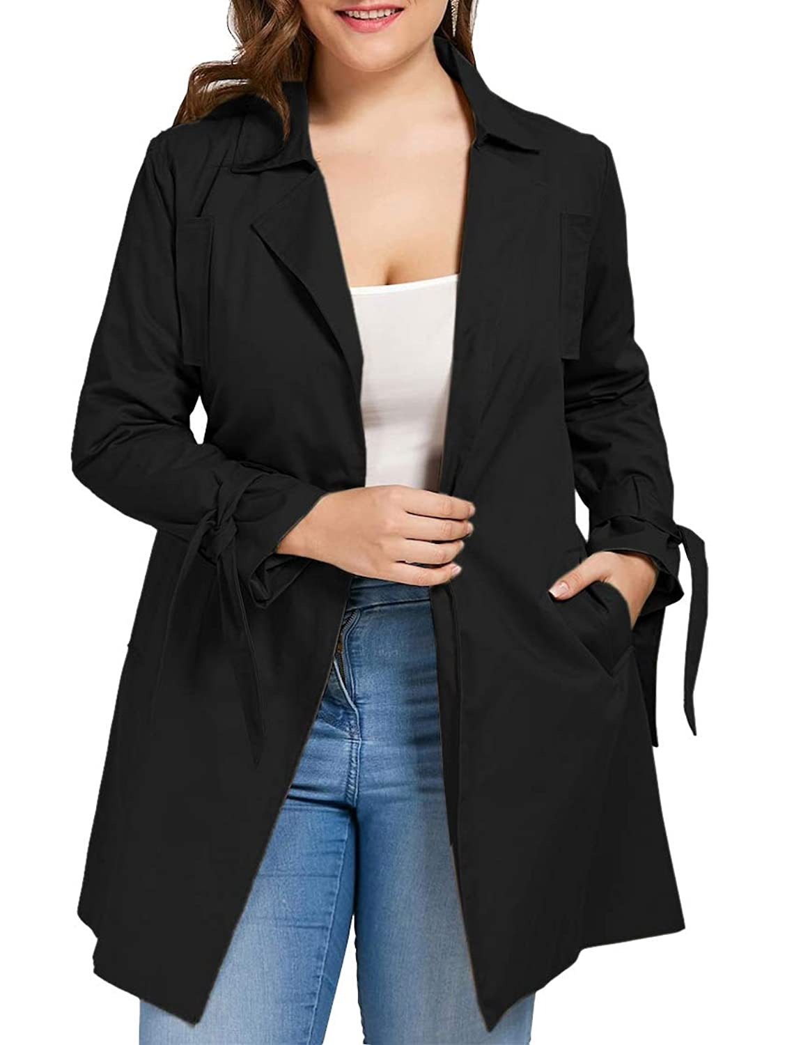 58f99fcc88668  Trench Coat This light jackets for women is made of 95% Polyster