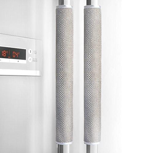 Refrigerator Door Handle Cover Kitchen Appliance Decor Handles Antiskid Protector Gloves for Fridge Oven Keep off Fingerprints,Liquid,Oil Stain,Food Spot,2 pieces (16