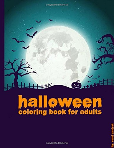 Halloween: coloring book for adults]()