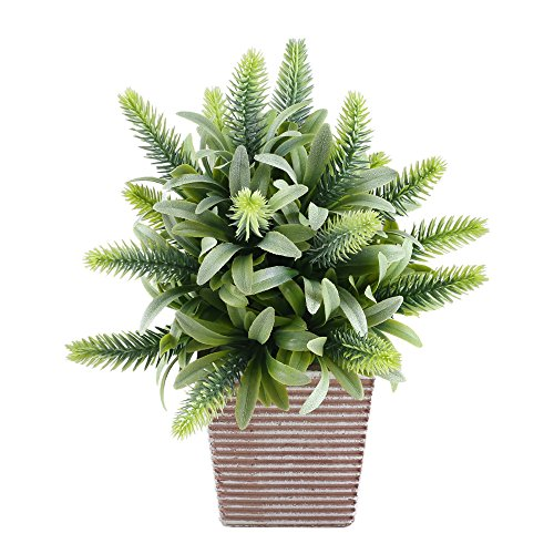 Cheap  Fake Potted Plants, GTIDEA Artificial Greenery Bonsai Faux Plastic House Plants for..