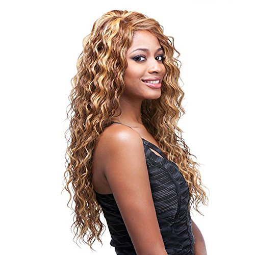 29Inch Kinky Curly Wig Blonde Long Hair Wigs for Black Women - QianBaiHui Heat Resistant Synthetic Hair Fashion New Wigs with Free Wig Cap (blonde mix)